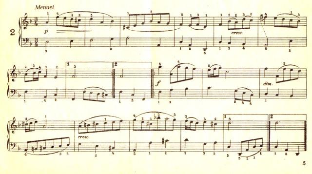 Menuetul 2 pentru Anna Magdalena Bach