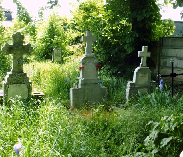 fostul mormînt al tatălui meu din cimitirul Bolovani - Ploieşti