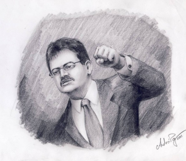 Caricatura Marius Cruceru Andrei Pop